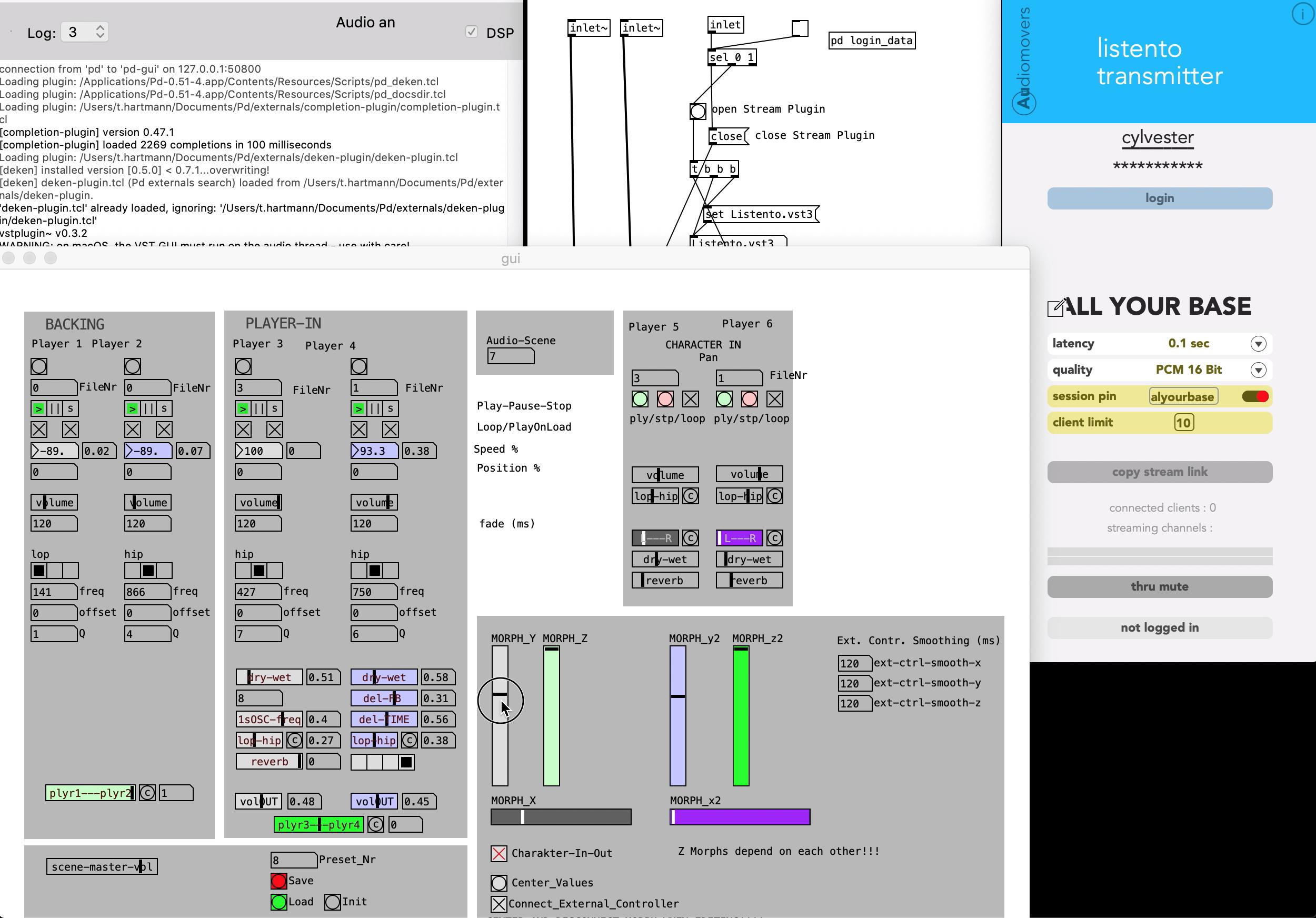 Reactive Audio Patch & Audio Stream Setup